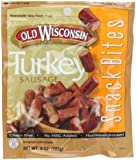 Old Wisconsin Turkey Sausage  Snack Bites, 8-Ounce Pouches (Pack of 6)