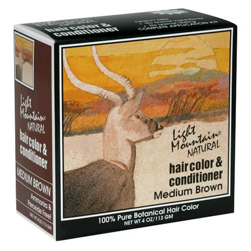 light mountain natural hair color conditioner medium brown 4 oz. Black Bedroom Furniture Sets. Home Design Ideas