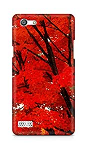 Amez designer printed 3d premium high quality back case cover for OPPO Neo 7 4G (red leaves trees nature )