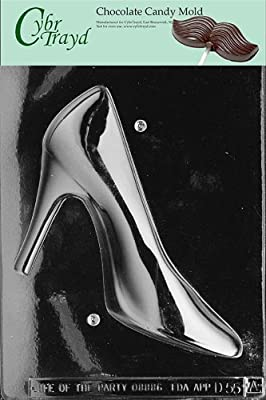 Cybrtrayd D055A 3D High Heel Shoe (Side 1 ONLY) Chocolate Candy Mold with Exclusive Cybrtrayd Copyrighted 3D Chocolate Molding Instructions