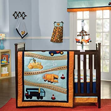 Inspirational Zutano Construction Piece Crib Bedding Set