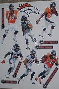 Denver Broncos 2013-2014 FATHEAD Team Set of 7 Official NFL Vinyl Wall Graphics by Fathead