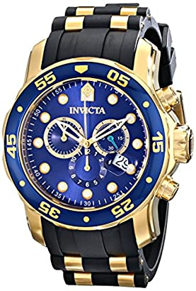 c874a1db2 Invicta Men's 17882 Pro Diver 18k Gold Ion-Plated Stainless Steel Watch