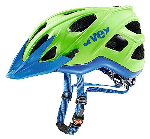 Uvex, Casco da ciclismo Stivo CC MTB, Verde (Green/Cyan Mat), 56-61 cm