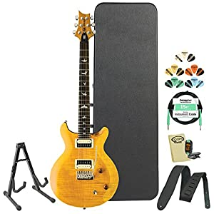 PRS SE Santana (CSSY) Santana Yellow Electric Guitar w/ Accessories & Hard Case