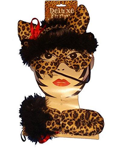 Deluxe Furry Leopard Cheetah Womens Costume (Adult Cheetah Costume)