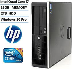 HP Elite 8200 SFF High Performance Business Desktop Computer (Intel Quad Core i7 up to 3.8GHz Processor), 2TB HDD, 16GB DDR3 Memory, DVD RW, Windows 10 Professional (Certified Refurbished)