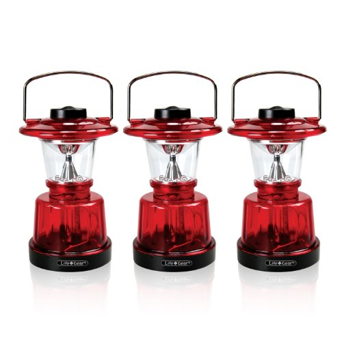 Life Gear Mini LED Glow Lantern with 3 light modes (lantern, nightlight & emergency flasher),- 3 PACK (Mini Led Lantern compare prices)
