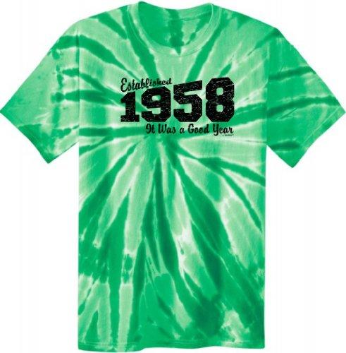 Established 1958 Was A Good Year Birthday Tie Dye T-Shirt 2Xl Kelly