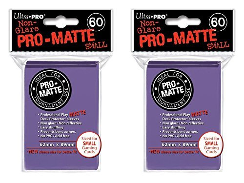 120 Ultra Pro Purple SMALL PRO-MATTE Deck Protectors Sleeves Colors Yugioh Vanguard [2 Packs of 60]