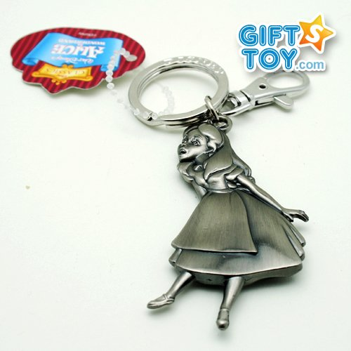 Disney Alice in Wonderland Alice Pewter Charms Key Chain