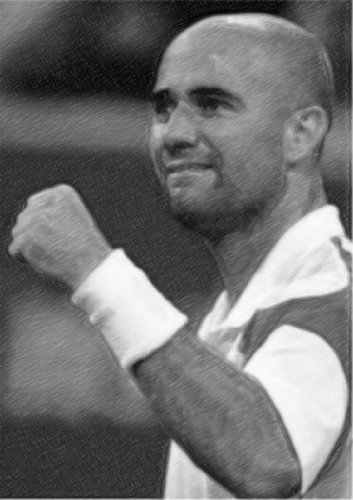 ANDRE AGASSI - Original Art Print (A4 - Signed by the Artist) #js001