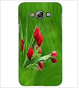 PRINTSWAG RED FLOWERS Designer Back Cover Case for SAMSUNG GALAXY J7