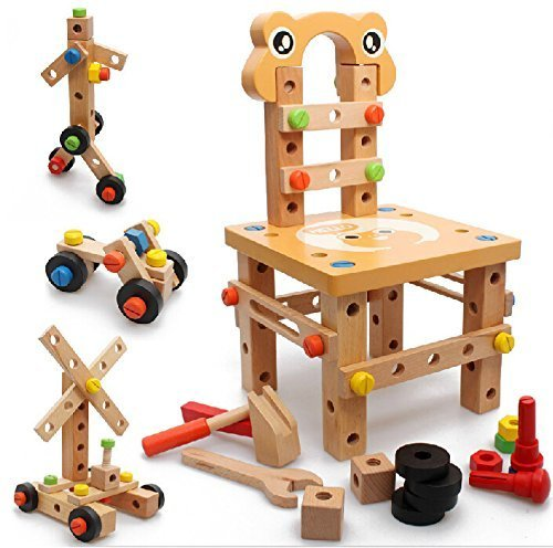 Vidatoy-DIY-Screw-Block-Activity-Working-Chair-Construction-Sets-52-Lovely-Pieces-Wooden-Toys