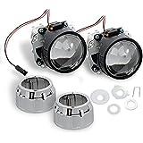 """Nilight® 2.5"""" Mini HID Bixenon Projector Lens for H1 Bulb Car Gift:chrome Shround"""
