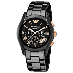Emporio Armani Men's AR1410 Ceramic Black Chronograph Dial Watch