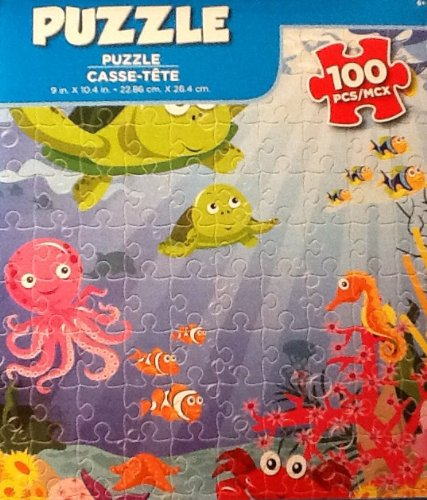 Delightful Ocean Sea Creatures! Fish! 100 Piece Puzzle! Bright! Bold Colors! Fun! - 1