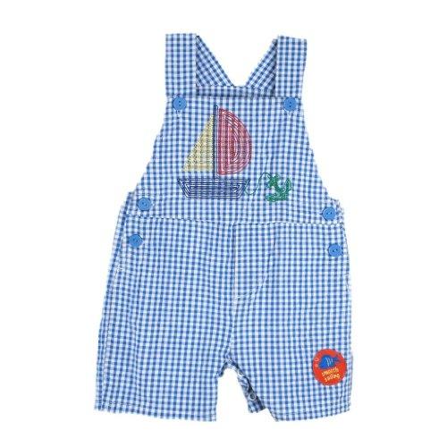Baby Togs Little Boys' Gingham Shortall  Sailboat