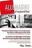 img - for Allemagne d'aujourd'hui, N 208 : Transitions d mocratiques et transformation des  lites en Allemagne au XXe si cle book / textbook / text book