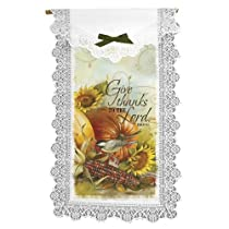Heritage Lace Joyful Harvest 12-Inch by 20-Inch Wall Hanging Ecru