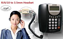 buy Top® Headset To Rj9/Rj10 Adapter - Dual 3.5Mm To Rj9 Headset Spliter, Diy Conference Call System (Not For Rj11) 6~10 Days Delivery.