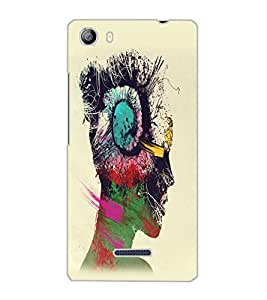 MICROMAX CANVAS 5 MUSIC GIRL Back Cover by PRINTSWAG