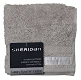 Sheridan, Egyptian Cotton Towel, Silver, Face Cloth, Pack Of 2, 33 X 33 Cm