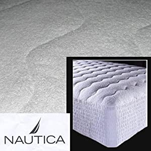 Nautica Cotton Terry Waterproof Spa Mattress Pad