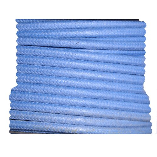 Cloth Braided Primary Wire - Blue 12 Gauge - 10 Foot Length