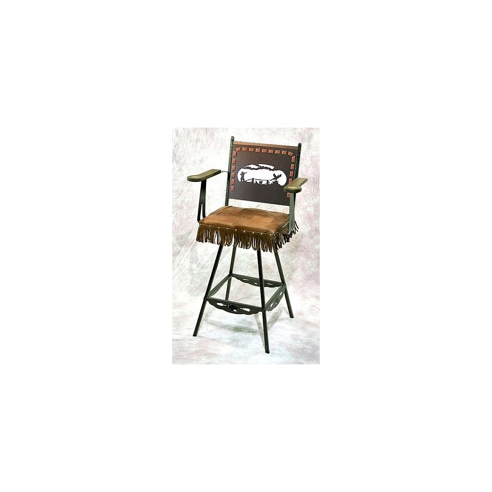 Pheasant Hunt SWIVEL Bar Stool_1