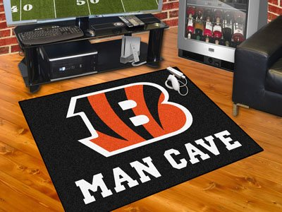"""Cincinnati Bengals Man Cave All-Star Rug 34""""x45"""" - FAN-14284"""