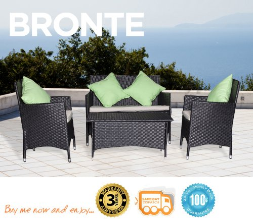 Bronte 4 Piece Outdoor Resin Wicker Patio Sofa Furniture Set Setting
