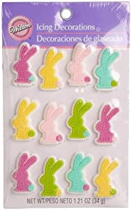 Wilton Silhouette Bunny Icing Decorations