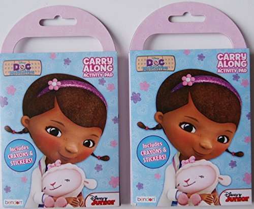Doc McStuffins Carry Along Activity Pad with Stickers and Crayons - Pack of 2 - 1