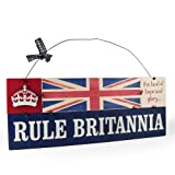 Heartwarmers Rule Britannia Vintage Wooden Union Jack Sign Plaque