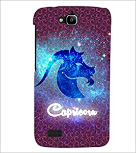 PrintDhaba Zodiac Capricorn D-5766 Back Case Cover for HUAWEI HONOR HOLLY (Multi-Coloured)