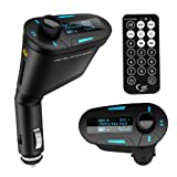 JSG Accessories® Car MP3 Player FM Transmitter with USB/SD card reader and remote control, Audio Input Supports Ipod IPhone and all mobile phones, able to charge your mobile phone