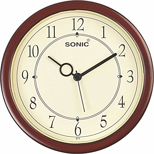 SONIC Brown round Plastic Analogue Quartz