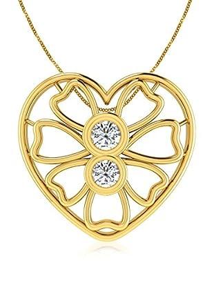 Friendly Diamonds Conjunto de cadena y colgante FDP12320Y Oro Amarillo