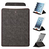 Mulbess - Universal 9 / 10.1 inch (27 cm x 19 cm ) Tablet Sleeve Leather Case Cover with Stand (for Apple iPad 2/3/4/Air,Samsung Galaxy Tab/Note/Pro/S 3/4 10.1/10.5 ,Acer Iconia Tab A500/W510,Lenovo ideaTab S6000/K3 Lynx/Yoga,Asus MeMo Pad HD 10/Transfor