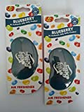 2 x Jelly Belly 15214 3D Jelly Bean Air Freshener - BLUEBERRY