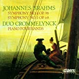 Symphonies 4 and 1 for Piano Four Hands Johannes Brahms