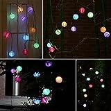 Sunniemart 20 LED Chinese Lantern String Lights Solar Christmas Lights Outdoor Decorative Lights for Patio, Garden, Lawn