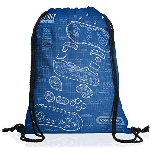 style3 16 Bit Controller Cianografia Borsa da spalla sacco sacchetto drawstring bag gymsac