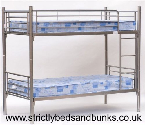 Childrens bunkbed- 2FT 6 Small Single Bunk Bed with two sprung mattress
