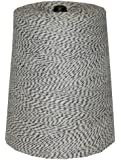 T.W . Evans Cordage  07-044 4 Poly Variegated 2-Pound Cone, 9600-Feet, Black and White