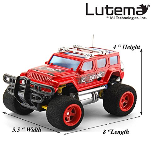 Lutema Cosmic Rocket 4CH Remote Control Truck, Red (Long Range Remote Control Truck compare prices)