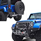 E-Autogrilles 07-15 Jeep Wrangler JK Moab Combo of Front and R2 Rear Bumper (51-0360+51-0310 )