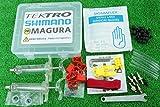 ミネラルオイル系 プロ仕様 保管ケース付き 油圧ディスクブレーキ エア抜き ブリーディングキット シマノ SHIMANO マグラ MAGURA テクトロ TEKTRO対応