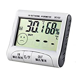 NEW!! LCD Digital Digital Alarm Clock Thermometer And Hygrometer Temperature Humidity Meter C or F